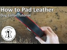 How to Pad Leather - Dog Collar Tutorial - YouTube
