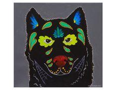 Day of the Dead Wolf  Art print of Acrylic Dia by Noelfernandoart, $10.00