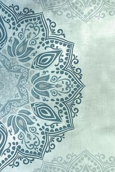 Teal Green Blue Mandala Right Side - 1 of 2 Mandala Artwork, Mandala Print, Mandala Painting, Stencil Painting, Cute Wallpaper Backgrounds, Pretty Wallpapers, Green Wall Decor, Fractal Art, Islamic Art