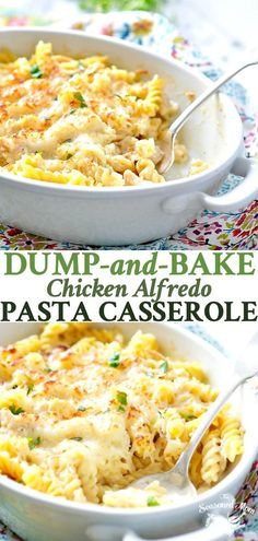 Dump and Bake Chicken Alfredo Pasta Casserole is an easy one pot meal -- and you. Dump and Bake Chicken Alfredo Pasta Casserole is an easy one pot meal -- and you don& even have to boil the pasta! Pollo Alfredo, Pasta Alfredo, Alfredo Sauce, Steak Alfredo, Chicken Alfredo Casserole, Baked Chicken Alfredo Recipe Easy, Chicken Bake Recipes Easy, Recipes With Boiled Chicken, Recipe For Chicken Casserole