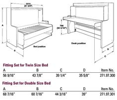 """Exceptional """"murphy bed ideas ikea guest rooms"""" information is offered on our internet site. Take a look and you wont be sorry you did. Cama Murphy, Murphy Bed Desk, Murphy Bed Plans, Murphy-bett Ikea, Bed Positions, One Room Apartment, Apartment Therapy, Hideaway Bed, Modern Murphy Beds"""