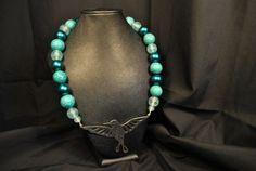 Turquoise Hummingbird by PleasanTreesJewelers on Etsy, $30.00