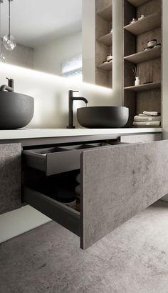 Big Bathrooms, Master Bathroom, Paris Bathroom, Small Bathroom, Stone Bathroom Sink, Cement Bathroom, Unique Bathroom Sinks, Target Bathroom, Floating Bathroom Vanities