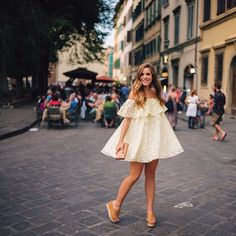 A quick twirl before dinner last night with @luisaviaroma #italy #gmgtravels #florence #dresstwirls #firenze4ever