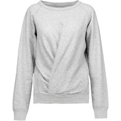 Étoile Isabel Marant Belden twist-front cotton-blend sweatshirt ($135) ❤ liked on Polyvore featuring tops, hoodies, sweatshirts and twist front top