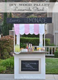 DIY Lemonade Stand from Wood Pallets via Make Life Lovely >> #WorldMarket Blogger Creations DIY
