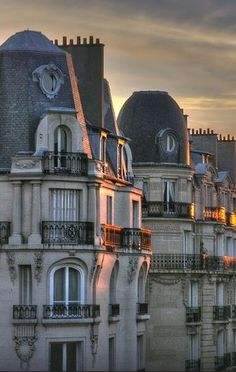 Paris...I always am drawn to French architecture, and I don't know why. The lines are simply appealing to my eye.