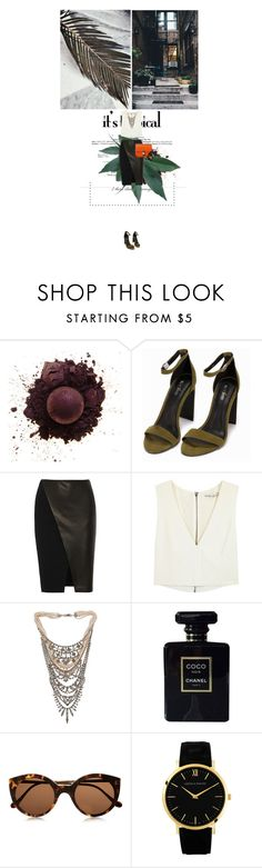 """""""CÉLINE bag"""" by mateajosipovic ❤ liked on Polyvore featuring Nly Shoes, Alice + Olivia, CÉLINE, Tom Binns, Chanel, Illesteva, Larsson & Jennings, women's clothing, women and female"""