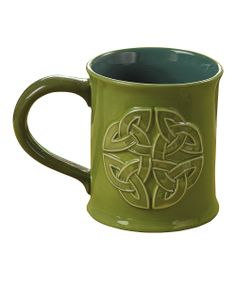 may the road rise up to meet you... green celtic knot and blessing mug. A good way to start the morning