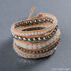 Looking For Jewelry Making Projects Visit Hobby Lobby Leather Beaded Wrap Bracelet Project Details