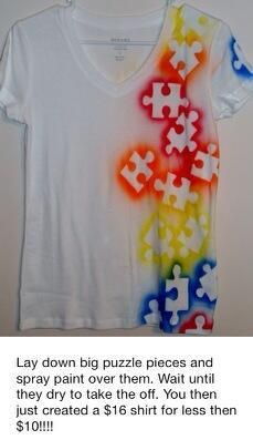 Great idea for Autism Awareness Month