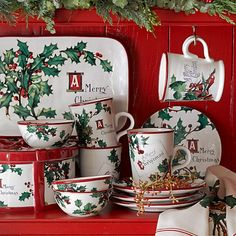 T'was The Night Before Christmas Dinner Plates | Deck the Halls ...
