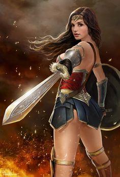 Wonder Woman, Frankiew Yip on ArtStation
