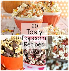 20 Tasty Popcorn Recipes You will Want to Try! #popcornrecipes #passionforsavings #fallrecipes