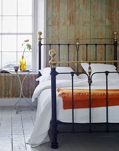 Win a bed. The Abingdon is a sleek bed offering side posts, beautiful metallic framework including the signature knuckle joint. Cast Iron Bed Frame, Cast Iron Beds, Copper Bed Frame, Antique Iron Beds, Bed Company, Brass Bed, Metal Beds, Bed Styling, Double Beds