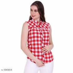 Shirts Stylish Cotton Women's Shirt  *Fabric* Cotton  *Sleeves* Sleeves Are Not Included  *Size* S - 36 in, M - 38 in, L - 40 in, XL - 42 in  *Length* Up To 24 in  *Type* Stitched  *Description* It Has 1 Piece Of Women's Shirt  *Pattern* Checkered  *Sizes Available* XXS, XS, S, M, L, XL, XXL, XXXL, 4XL, 5XL, 6XL, 7XL, 8XL, 9XL, 10XL, Free Size *   Catalog Rating: ★3.9 (308)  Catalog Name: Free Mask Trendyfrog Stylish Cotton Women'S Shirts Vol 3 CatalogID_242592 C79-SC1022 Code: 242-1843814-