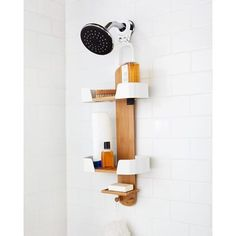 Beau Modern Bamboo And White Shower Caddy. Umbra Decker Shower Caddy   Design By  Anthony Keeler