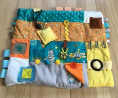 Autism Support Autism Awareness Sensory SPD Activity Quilt Fun ROBOTS in SPACE by Restless Remedy by RestlessRemedy on Etsy