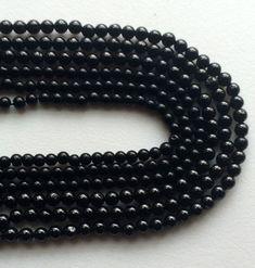 Black Spinel Beads Black Spinel Plain Round Balls by gemsforjewels