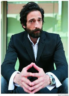 Hot on the heels of his GQ Germany November 2014 cover story, actor Adrien Brody covers the summer 2015 edition of GQ Style Brasil. Promoting his new film… Adrien Brody, The Fashionisto, Gq Style, Hair Style, Bearded Men, Cover Photos, Gorgeous Men, Actors & Actresses, Hot Guys