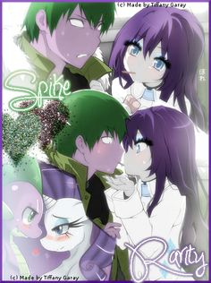 Spike x Rarity, I love this lol - HEY! THE PICTURES ARE FROM TORADORA! ONLY THE COLOR SCHEME HAS CHANGED!