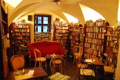 Next Apache, Bratislava, Slovakia - a cafe & the only exclusively English second-hand bookstore in the city.