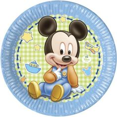DISNEY BABY MICKEY MOUSE PARTY MINNIE NAPKINS PLATES CUPS TABLE COVER SET