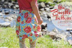 Mommy by day Crafter by night: The Bustle Bottom Skirt + Tutorial