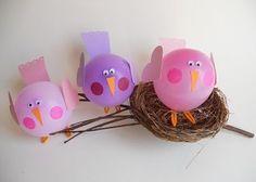 Птички из воздушных шариков - Поделки с детьми   Деткиподелки