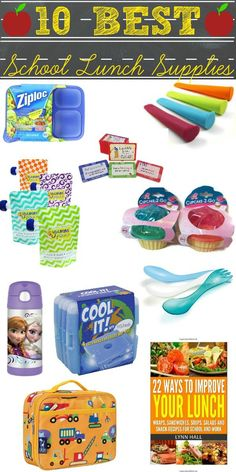 To help you start the school year off right, here's a list of the 10 Best School Lunch Supplies for #BackToSchool. | Food Folks and Fun