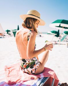 5 Outfits to Celebrate Summer Solstice Summer Vacation Style, Summer Beach, Spring Summer, Swimsuits, Bikinis, Swimwear, St Pete Beach, Summer Solstice, Golf Outfit