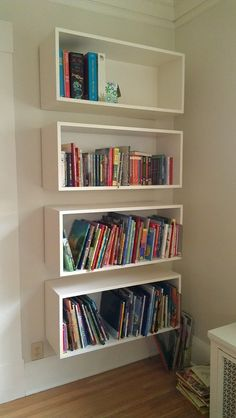 Floating bookshelves from Love Your Space