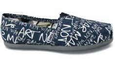 Everybody please buy toms! Every pair that you buy, a child in Africa gets a pair of shoes!