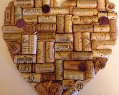 Wine Cork Heart Noticeboard von Emmasheartsandall auf Etsy