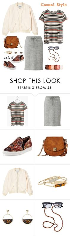 """""""Velvet: Casual Style"""" by musicfriend1 ❤ liked on Polyvore featuring Madewell, Uniqlo, Tabitha Simmons, Gabriella Rocha, Monki, GUESS, New Look, Corinne McCormack, NYX and velvet"""