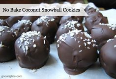 No Bake Coconut Snowball Cookies | These cookies are nourishing, beautiful, incredibly easy (no-bake) and delicious. Just what you want in a cookie! | GNOWFGLINS.com