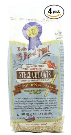 Bob's Red Mill Steel-Cut Oats. I have steel cut oats most mornings for breakfast. Bob's is the best brand I have tried so far. I buy in bulk from Amazon to save money.