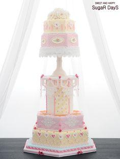 JAPAN CAKE SHOW 2015 Bronze Medal Wedding Cake