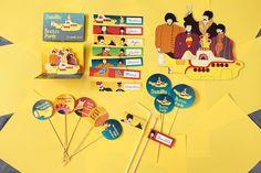 Beatles Party Beatles Birthday Party, Monkey Birthday, 70th Birthday Parties, Themed Parties, Gifts For Wedding Party, Party Gifts, Diy Party, Party Ideas, Festa Yellow Submarine
