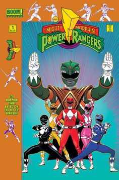 Mighty Morphin' Power Rangers #1 Variant - Tradd Moore, Colors: Rico Renzi, Design: Jillian Crab