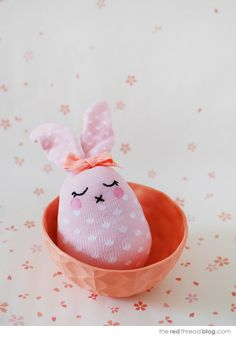 the red thread :: create, inspire, share | TUTORIAL :: Make the cutest Easter bunny softies from socks | http://www.theredthreadblog.com