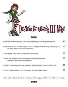 Elf on the Shelf Ideas: Elf Lost his Magic! How to Restore Elf's Magic #elfontheshelf #elfshelf #christmas