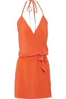 This summer's must have color - orange in a cute, easy to wear dress.