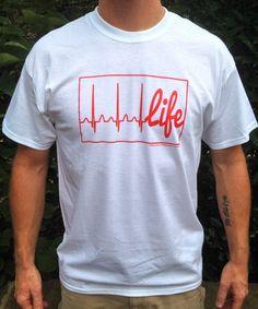 Life Line Men's FYLU t-shirt available at Fillyourlifeup.com
