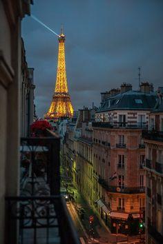 Vue du 5ème étage du 44 rue Hamelin, Paris XVI, dernière adresse de Marcel Proust