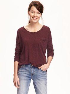 Slouchy Burgundy Sweater