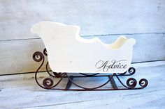 Wooden Christmas Wedding Decor Wood Sleigh Advice Box