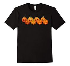 Amazon.com: Emoji Pumpkin T shirt Funny Faces Halloween: Clothing