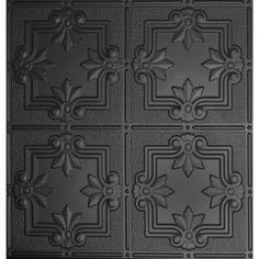 Global Specialty Products Dimensions 2 ft. x 2 ft. Matte Black Lay-in Tin Ceiling Tile for T-Grid Systems 321-26 at The Home Depot - Mobile