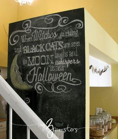 My 3 Monsters:  a new chalkboard design,